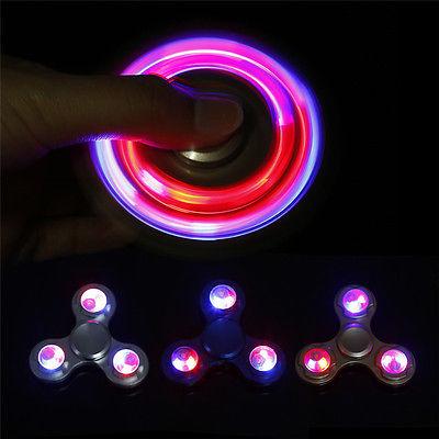 LED-Light-Fidget-Spinner-Finger-Alloy-Gyro-Metal